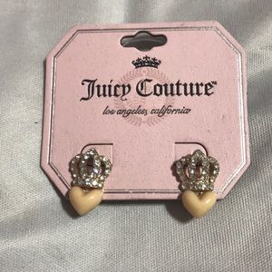 Juicy Couture Earrings Hearts and Crowns